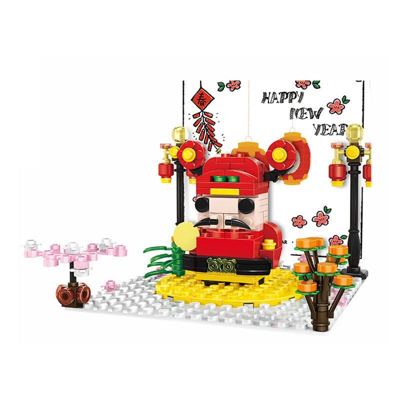 WANGE 2103 Caishen Li volume wooden greeting card 0