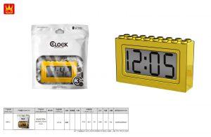 WANGE 094-2 Building blocks electronic clock 0