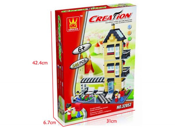 WANGE 32053 General villa series: C model three-storey ocean floor 1