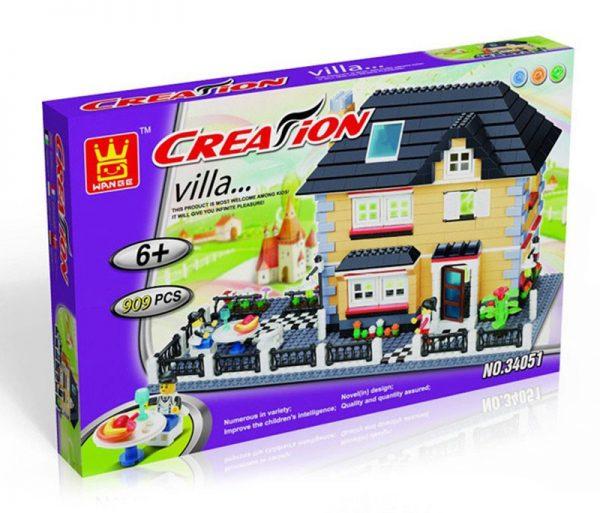 WANGE 34051 Luxury Villa Series: Model A 1