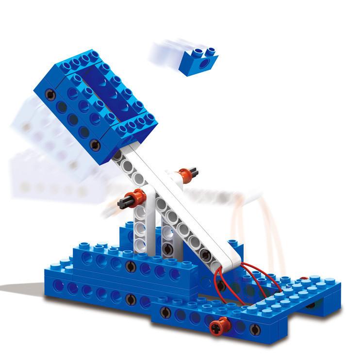 WANGE 1402 Power machinery: crane, stone thrower, caterpillar, gravity car 1