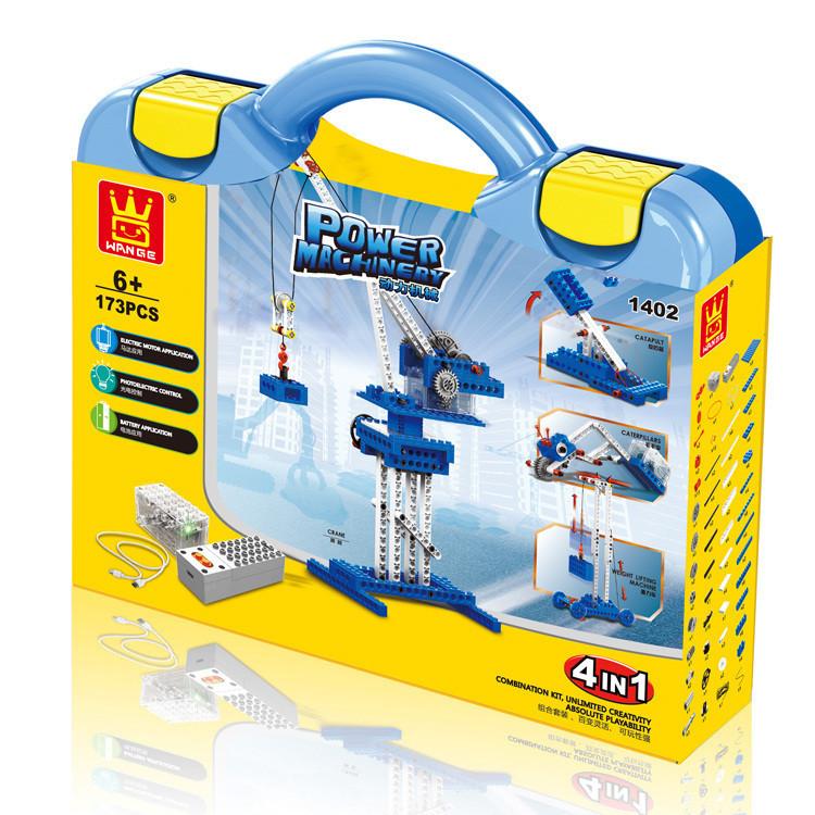 WANGE 1402 Power machinery: crane, stone thrower, caterpillar, gravity car 4
