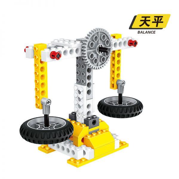 WANGE 1405 Power machinery: dominoes, lunar vehicles, windmills, balances 2