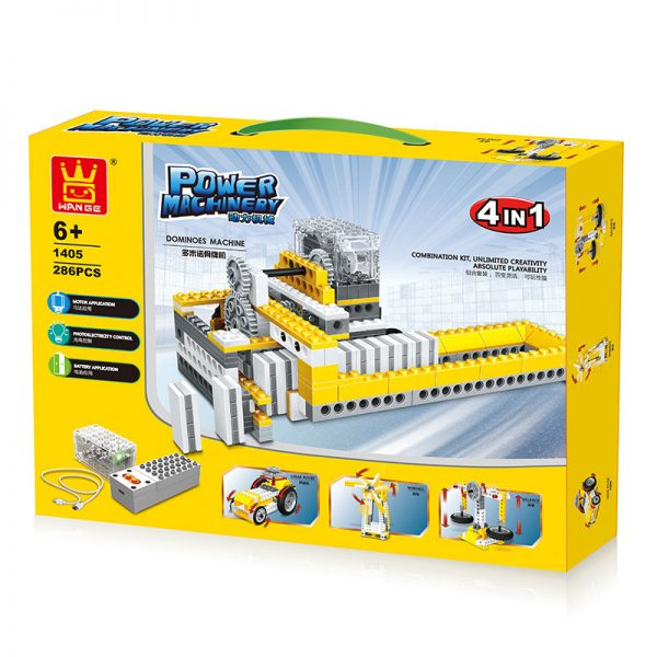 WANGE 1405 Power machinery: dominoes, lunar vehicles, windmills, balances 4