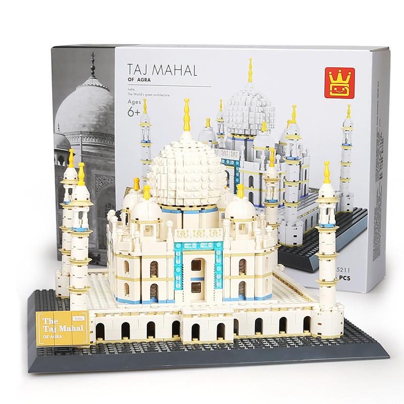 WANGE 5211 Taj Mahal, ancient city of Agra, India 1