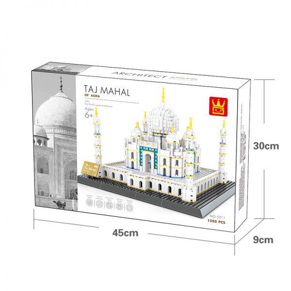 WANGE 5211 Taj Mahal, ancient city of Agra, India 2