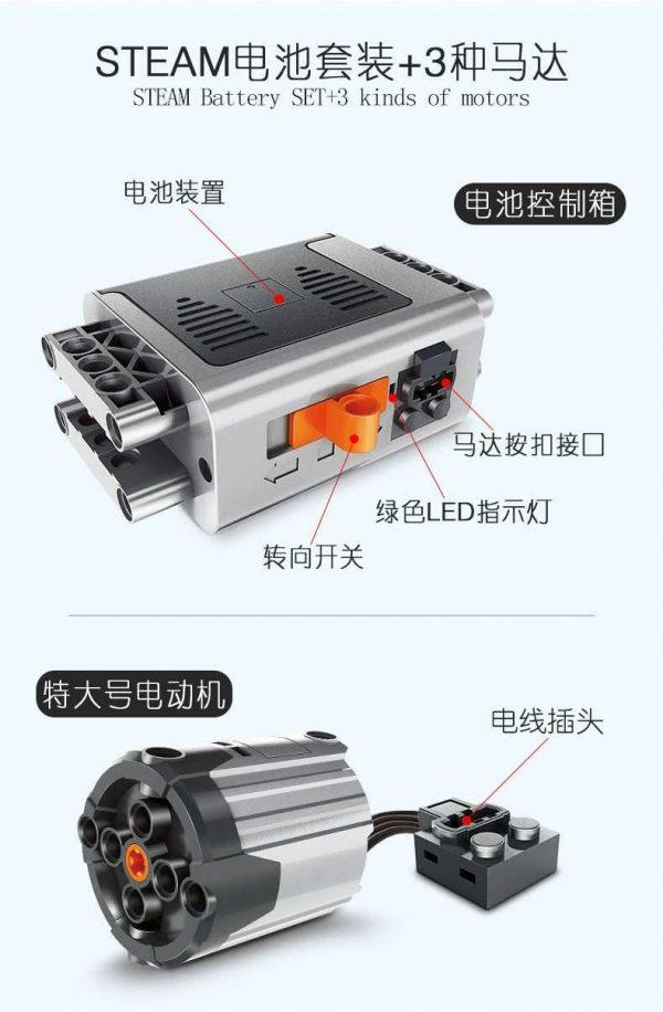 WANGE 1501 STEAM Battery Set with 3 Motors 6