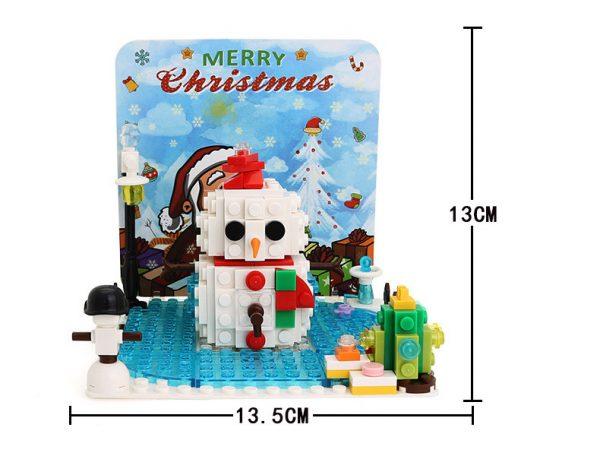 WANGE 2101 Christmas Standing Wood Card 4