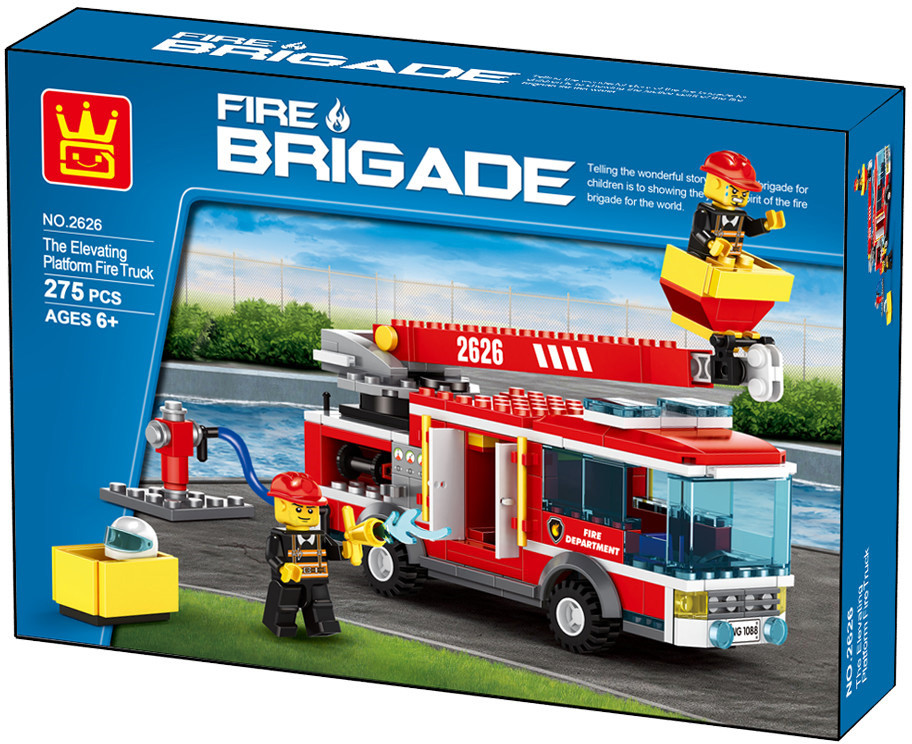 WANGE 2626 Fire Brigade: Ascending Platform Fire Truck 1