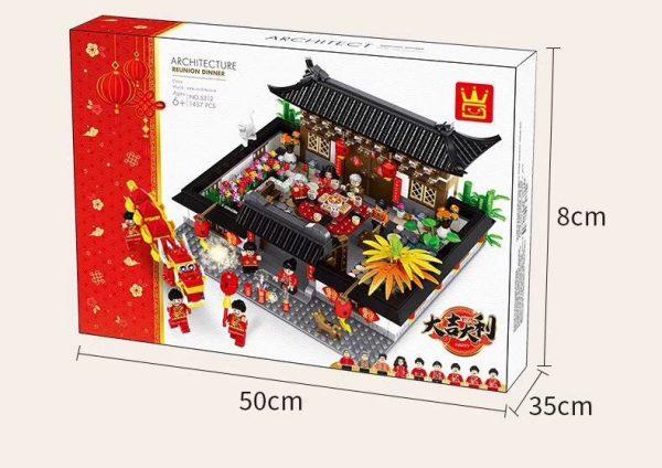 WANGE 5312 Chinese wind reunion meal 3