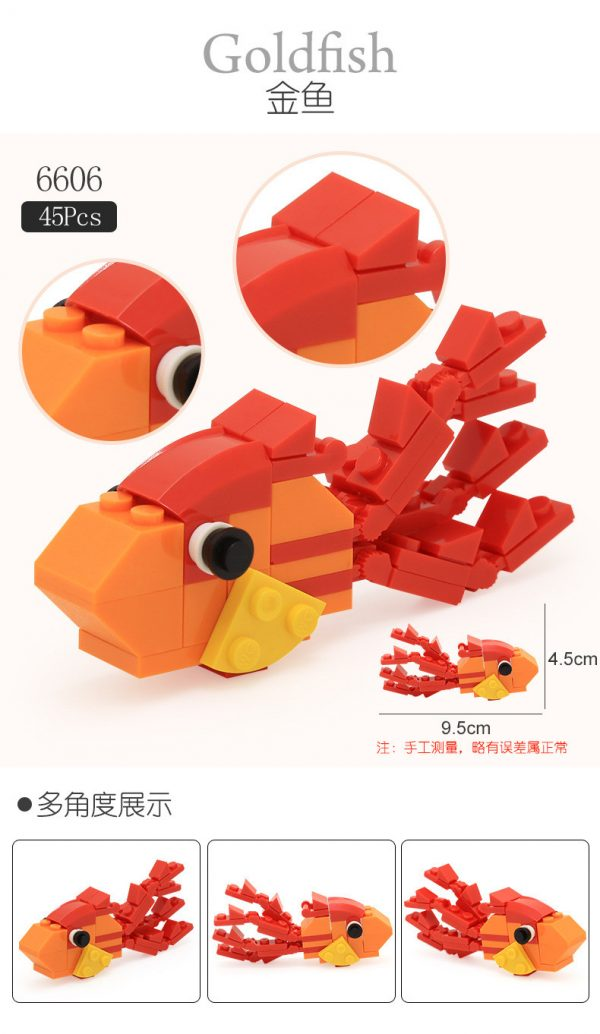 WANGE 6606 Animal Small Twist Egg 6 in 1 7