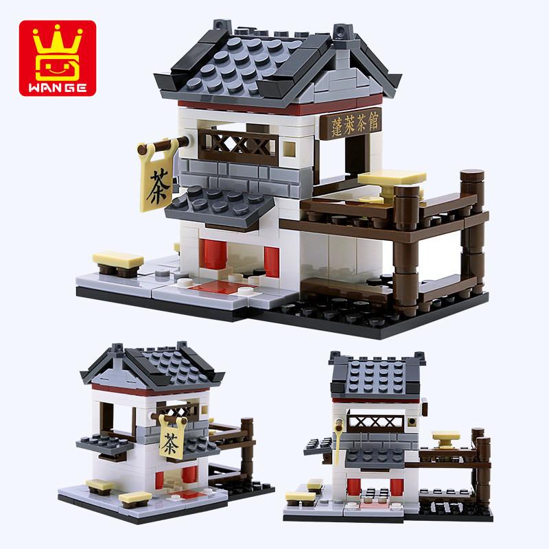 WANGE 2320 China Small Street View: 6 teahouses, splendid cloth, food for the fairy restaurant, Yuelai Inn, wine rye, bun shop 1