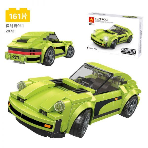 WANGE 2872 Super Racing Cars: Porsche 911 RSR and Porsche 911 Turbo 3.0 12