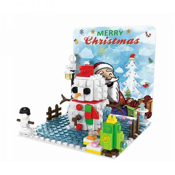 WANGE 2101 Christmas Standing Wood Card 0