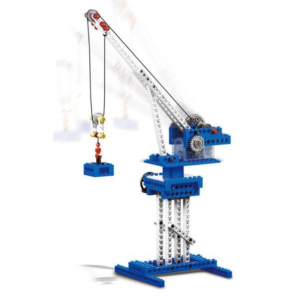 WANGE 1402 Power machinery: crane, stone thrower, caterpillar, gravity car 0