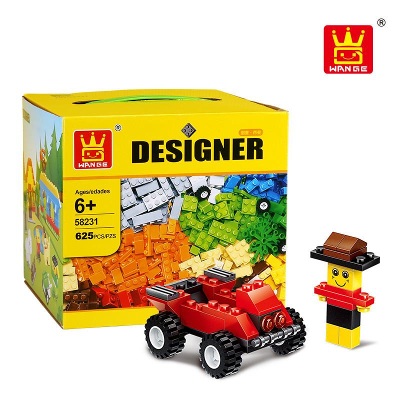 WANGE 58231 Wanger Gift BoxEd Bulk Piece Slicing Building Blocks Creator Expert Small Particles 0