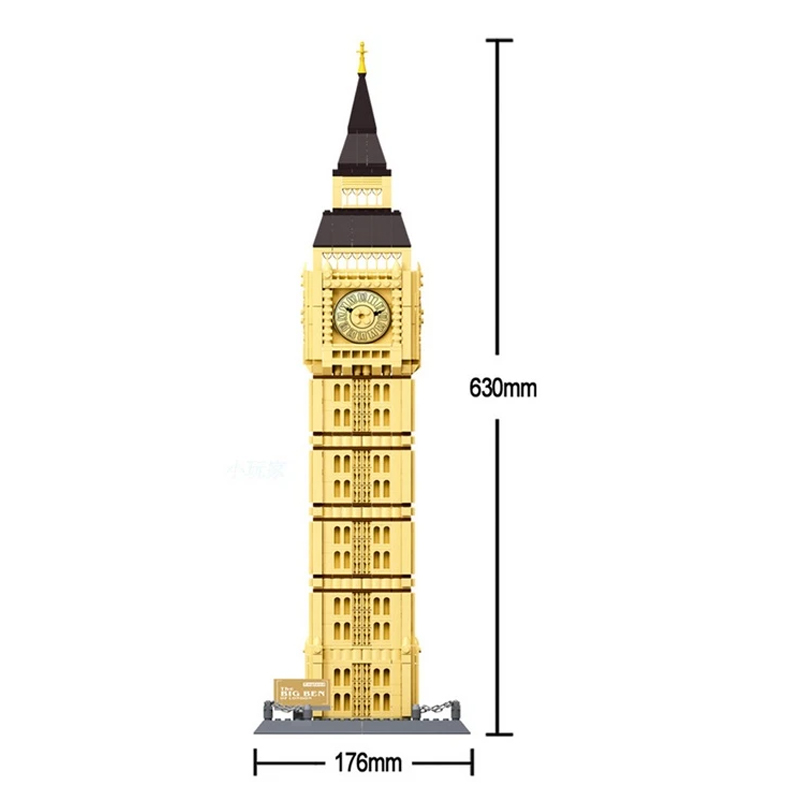 WANGE 5216 Big Ben Elizabeth Tower London UK Blocks 2 - WANGE Block