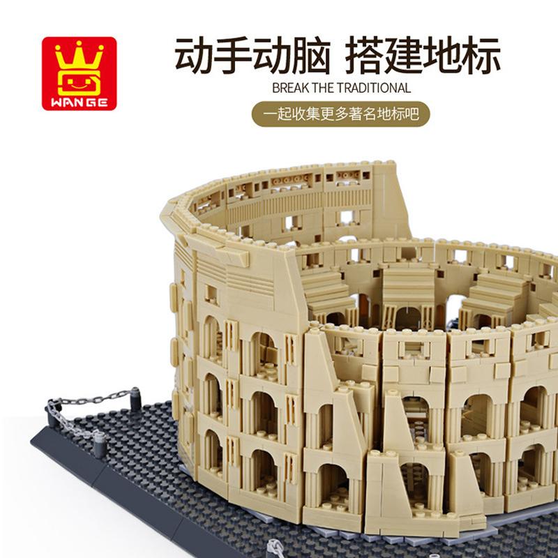 WANGE 5225 The Colosseum of ancient Rome Blocks 3 - WANGE Block