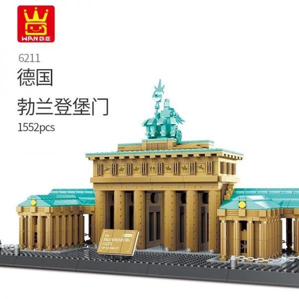 WANGE 6211 Brandenburg Gate Berlin Germany Blocks - WANGE Block