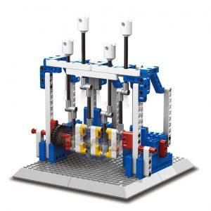 WANGE 1404 Power machinery: engine, folding chair, impact hammer, dinosaur 0