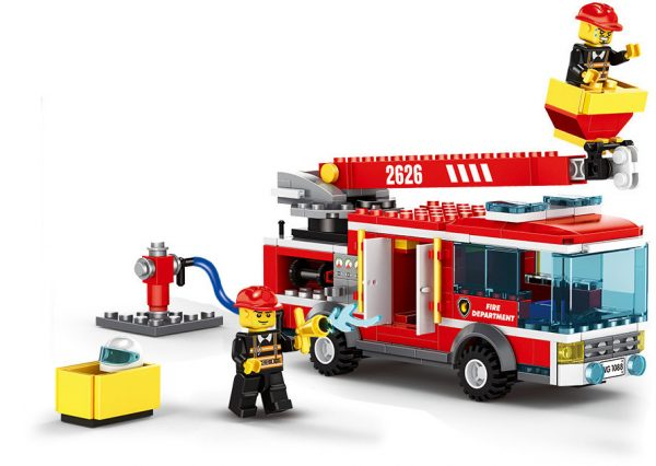 WANGE 2626 Fire Brigade: Ascending Platform Fire Truck 0