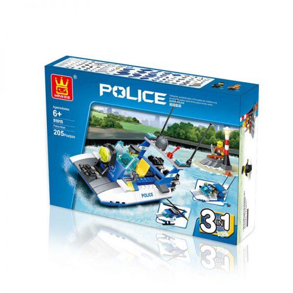 WANGE 51015 Water Police Speedboat 0
