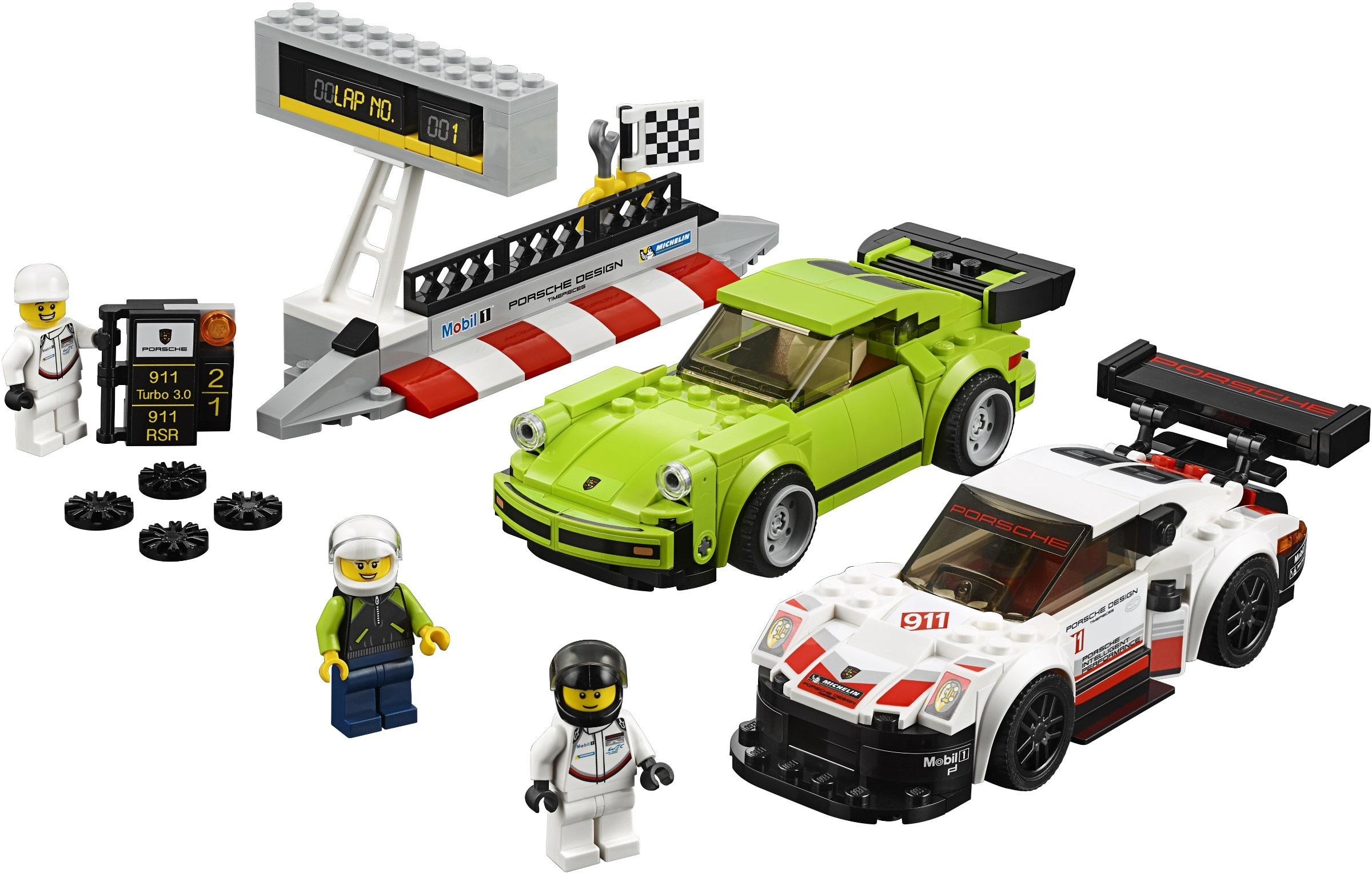 WANGE 2872 Super Racing Cars: Porsche 911 RSR and Porsche 911 Turbo 3.0 0